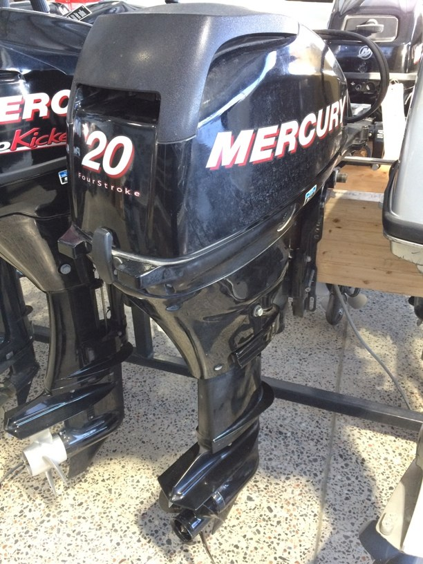 Mercury 20 hp elpt fourstrokes 2008 used outboard for sale for Used 200 hp mercury outboard motors for sale