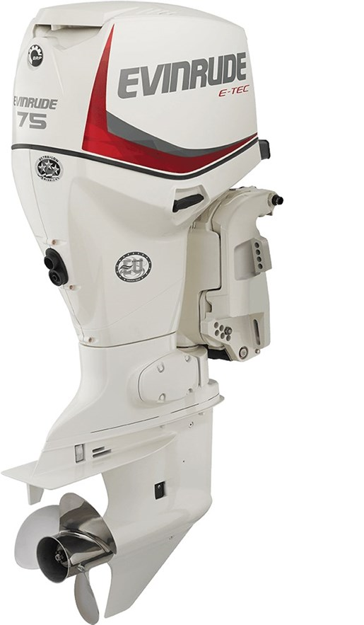 Evinrude e tec inline 75 hp e75dsl 2016 new outboard for for Evinrude outboard jet motors for sale