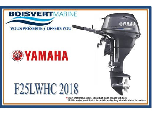 2018 Yamaha F25LWHC Photo 2 of 2