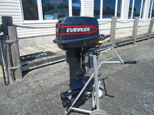 1997 Evinrude 30 hp, manual start, long shaft, tiller Photo 4 of 4