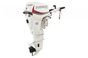 """Evinrude E30DRS - 30HP White, 15"""", Tiller, Manual Tilt 2016"""