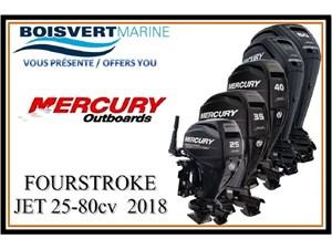 Mercury HB FOURSTROKE JET 25-80cv 2018