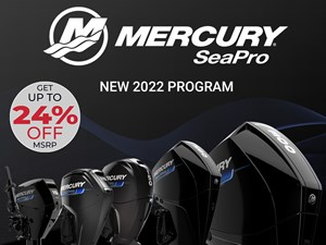 2022 Mercury 225CXL V-8 4-Stroke SeaPro DTS Commercial Outboard