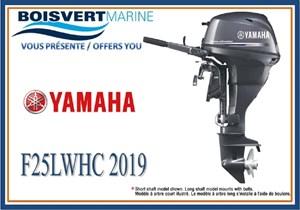 Yamaha F25LWHC (DÉMARRAGE ÉLECTRIQUE ET MANUEL) 2019