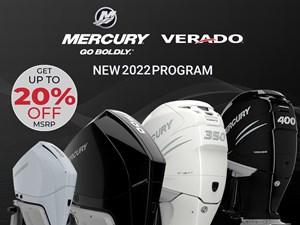 2022 Mercury 350XL Verado 4-Stroke Cold Fusion