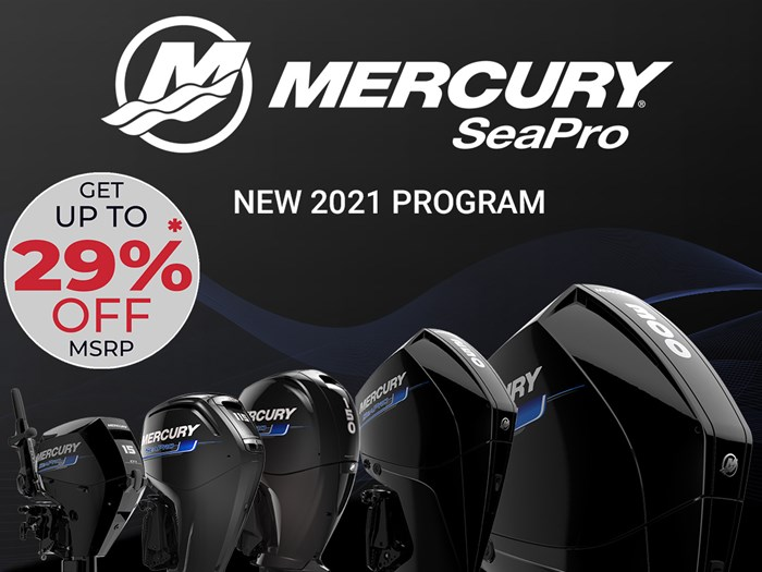 2021 Mercury 250XL V-8 4-Stroke SeaPro Commercial Outboard Photo 1 of 18